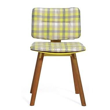 OASIQ CoCo Outdoor Sunbrella Dining Chair Cushion; Lemon