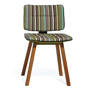OASIQ CoCo Outdoor Sunbrella Dining Chair Cushion; Green