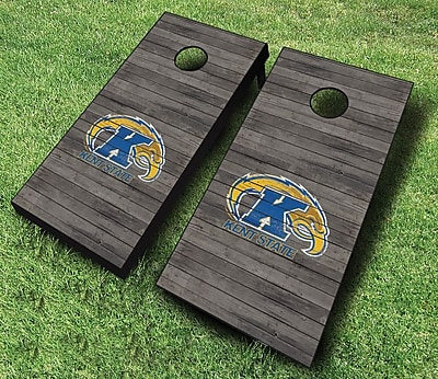 AJJCornhole NCAA 10 Piece Distressed Cornhole Set; Kent State Golden Flashes