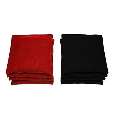AJJCornhole All Weather Cornhole Bag (Set of 8); Red/Black