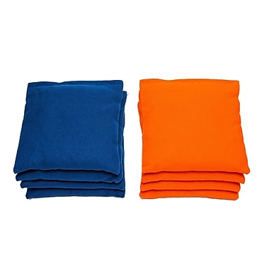 AJJCornhole All Weather Cornhole Bag (Set of 8); Orange/Royal