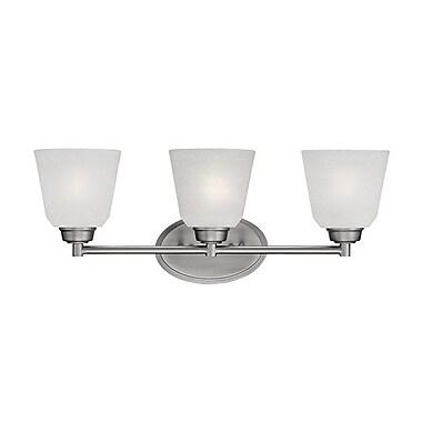 Millennium Lighting Franklin 3-Light Vanity Light; Brushed Pewter