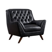 Hokku Designs Daine Modern Tufted Club Chair; Black
