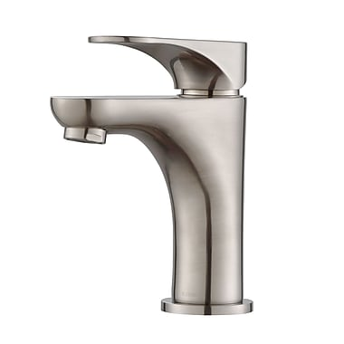 Kraus Aquila Single Hole Single Handle Bathroom Faucet; Brushed Nickel