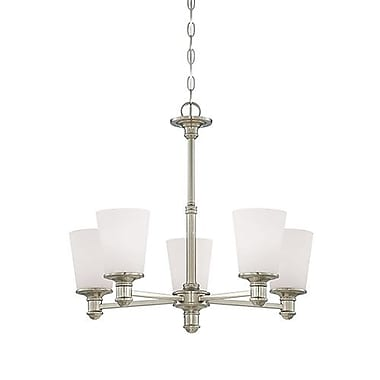 Millennium Lighting Cimmaron 5-Light Shaded Chandelier; Satin Nickel
