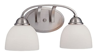 Millennium Lighting Camden 2-Light Vanity Light; Brushed Nickel