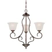 Millennium Lighting Cleveland 3-Light Shaded Chandelier; Rubbed Bronze