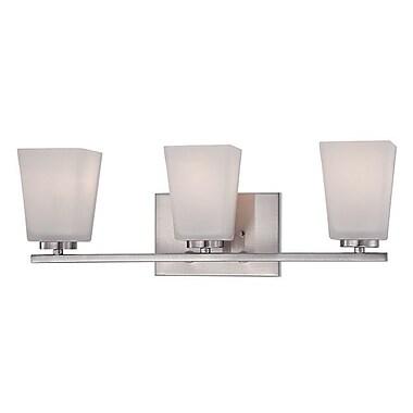Millennium Lighting 3-Light Vanity Light; Brushed Nickel