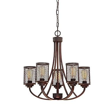 Millennium Lighting Akron 5-Light Candle-Style Chandelier; Rubbed Bronze