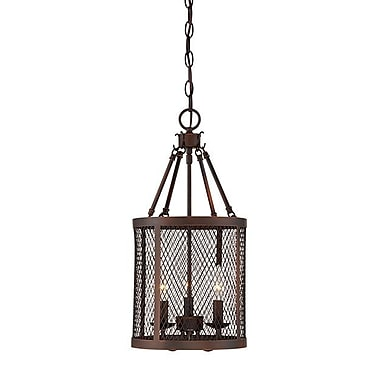 Millennium Lighting Akron 3-Light Foyer Pendant; Rubbed Bronze