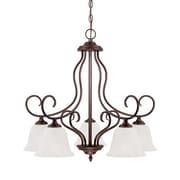 Millennium Lighting Cleveland 5-Light Shaded Chandelier; Rubbed Bronze