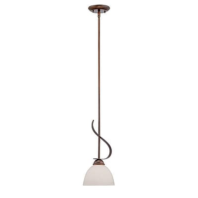 Millennium Lighting 1-Light Mini Pendant; Rubbed Bronze