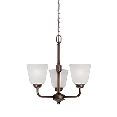 Millennium Lighting Franklin 3-Light Shaded Chandelier; Rubbed Bronze