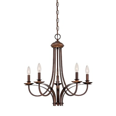 Millennium Lighting 5-Light Candle-Style Chandelier; Rubbed Bronze