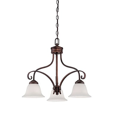 Millennium Lighting Kingsport 3-Light Shaded Chandelier