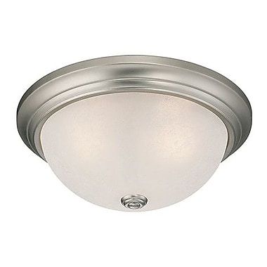 Millennium Lighting 3-Light Flush Mount; Satin Nickel