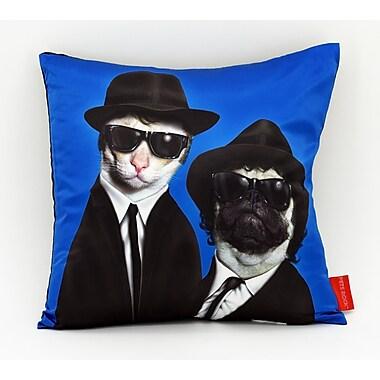 Empire Art Direct Pets Rock ''Brothers'' Throw Pillow