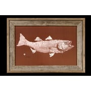 FishAye Trading Company 'Striped Bass' by JFD Framed Graphic Art