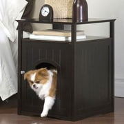Merry Products Allen Litter Box End Table; Espresso