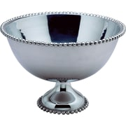 Kindwer Beaded Aluminum Punch Bowl