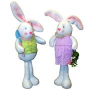 PennDistributing 2 Piece Standing Fabric Bunny Set