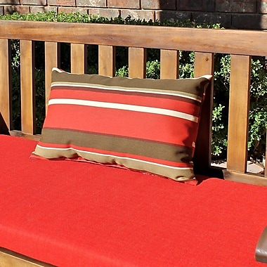Blazing Needles Rectangular Outdoor Lumbar Pillow (Set of 2); Vanya Paprika
