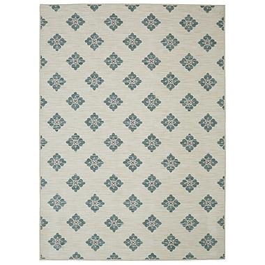 Mohawk Home Button Fleur Nylon 5'x8' Aqua Rug (086093478018)