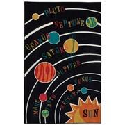 Mohawk Home Solar System Nylon 5'x8' Black Rug (086093477745)