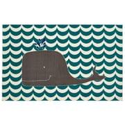 Mohawk Home Oh Whale Nylon 5'x8' Blue Rug (086093477851)