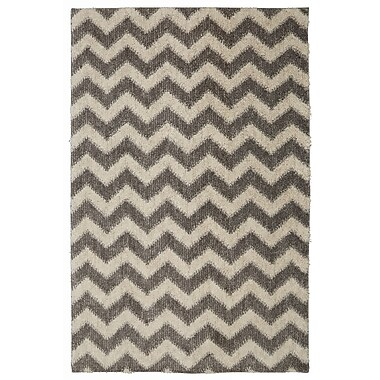 Mohawk Home Stitched Chevron EverStrand PET 5'x8' Gray Rug (086093489359)
