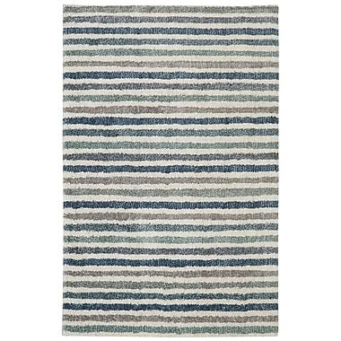 Mohawk Home Boardwalk Stripe EverStrand PET 5'x8' Blue Rug (086093489397)