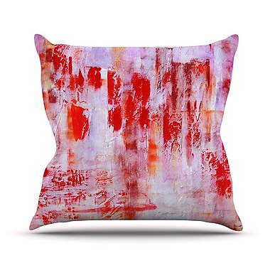 KESS InHouse Painted Cityscape Throw Pillow; 18'' H x 18'' W
