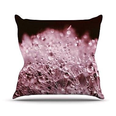 KESS InHouse Marsala Dandelion Diamonds Throw Pillow; 16'' H x 16'' W