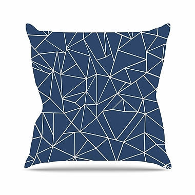 KESS InHouse Abstraction Outline Throw Pillow; 18'' H x 18'' W