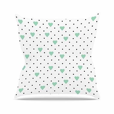 KESS InHouse Pin Point Polka Dot Throw Pillow; 18'' H x 18'' W