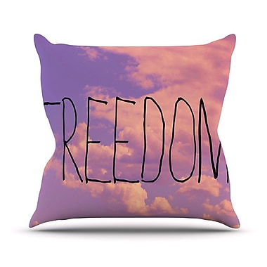 KESS InHouse Freedom Throw Pillow; 20'' H x 20'' W