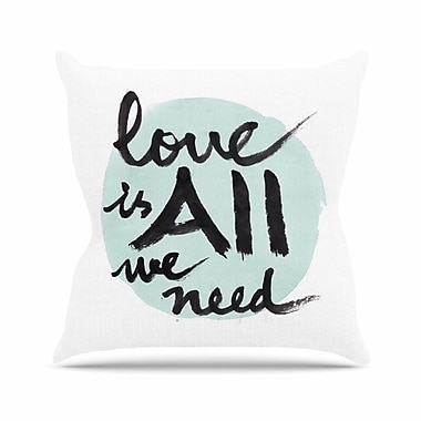 KESS InHouse Love Is All We Need Throw Pillow; 26'' H x 26'' W