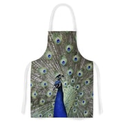 KESS InHouse Peacock of Stunning Features Fabric Artistic Apron