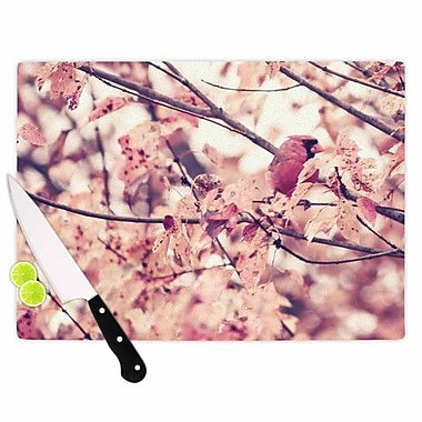 KESS InHouse Angry Bird in Fall Leaves Cutting Board; 15.75'' W x 11.5'' D