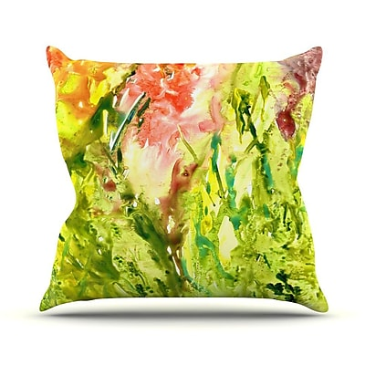 KESS InHouse Green Thumb Throw Pillow; 18'' H x 18'' W