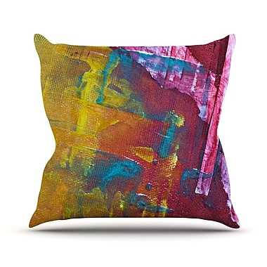 KESS InHouse Cityscape Abstracts III Throw Pillow; 16'' H x 16'' W