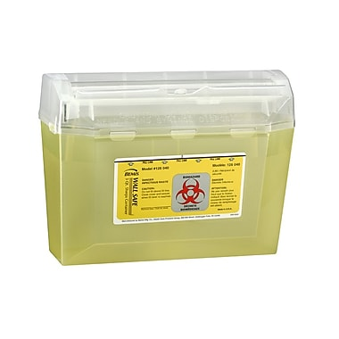 Bemis Wall Mount Sharps Container, 3 Quart, Yellow