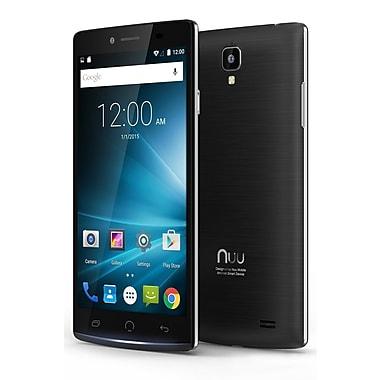 NUU Mobile - Téléphone intelligent Z8 HD intégrale, 5,5 po, noir brossé, (Z8 US BLK)