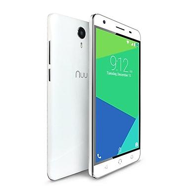 NUU Mobile - Téléphone intelligent N5L QHD LTE, 5,5 po, blanc, (N5L US WHT)
