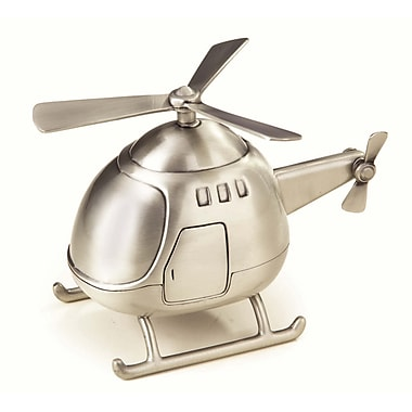 Elegance Helicopter Bank, Pewter Finish