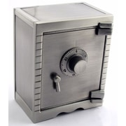 Elegance Pewter Finish Safety Deposit Money Bank