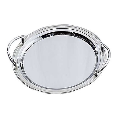 Elegance Round Stainless Steel Tray with Handles