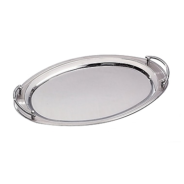 Elegance Oval Stainless Steel Tray with Handles