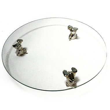 Elegance Glass Cheese Tray with Mice Feet Stands
