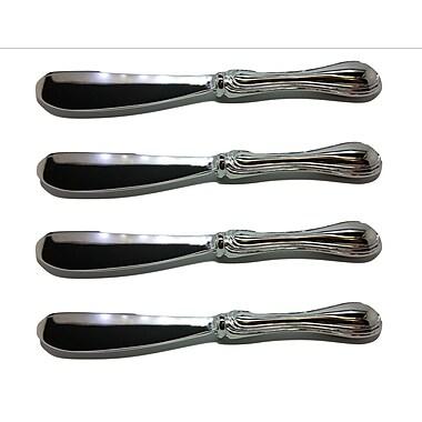 Elegance – Ensemble de couteaux à pâtés avec bordure plaquée argent